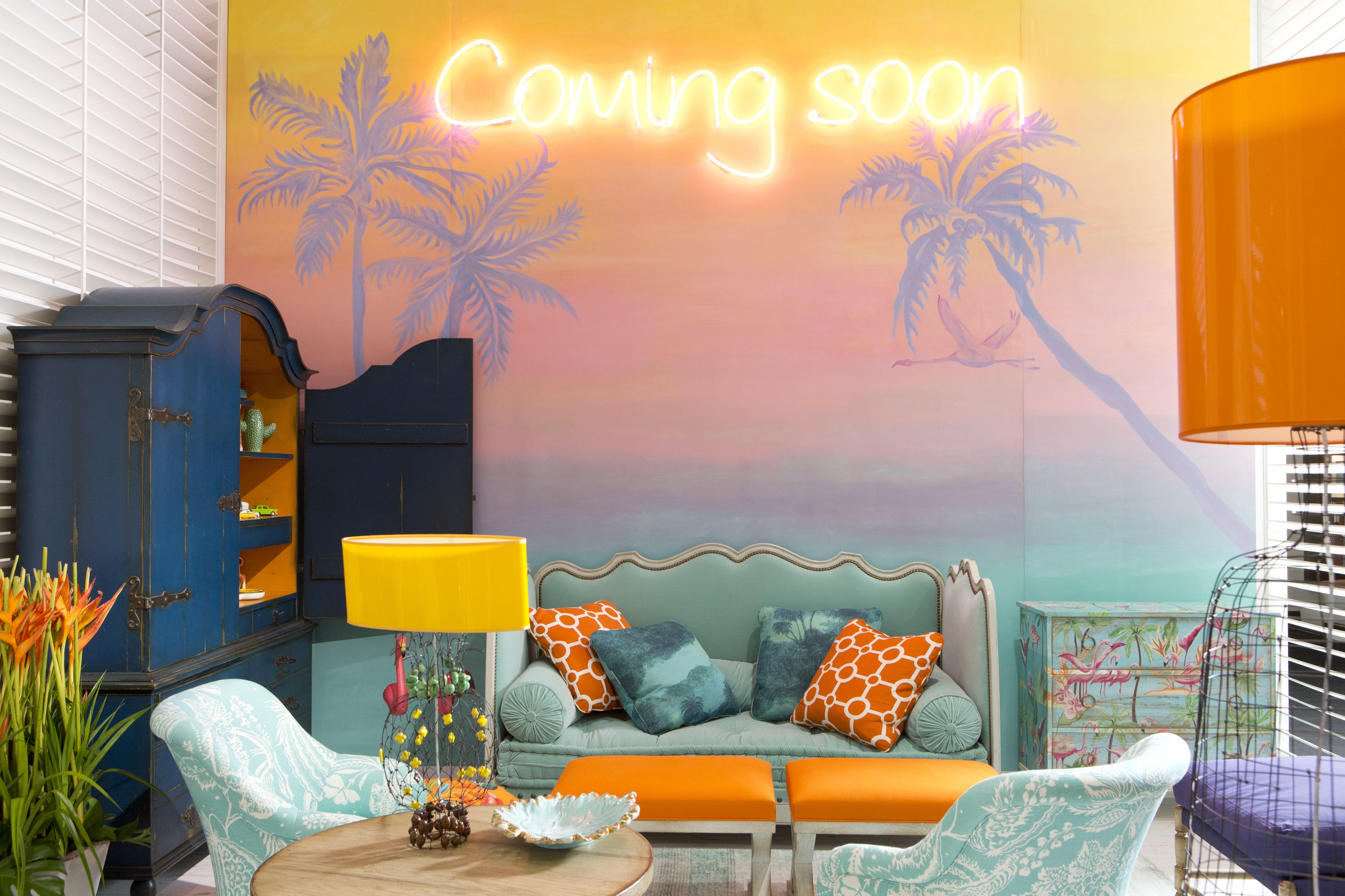 l ambiance miami se met en valeur dans le style d co. Black Bedroom Furniture Sets. Home Design Ideas