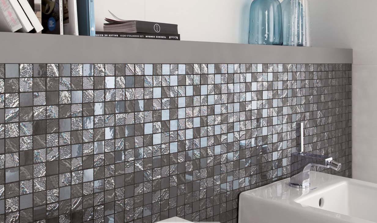 L\'effet mosaïque dans la salle de bain, tendance et chic ...